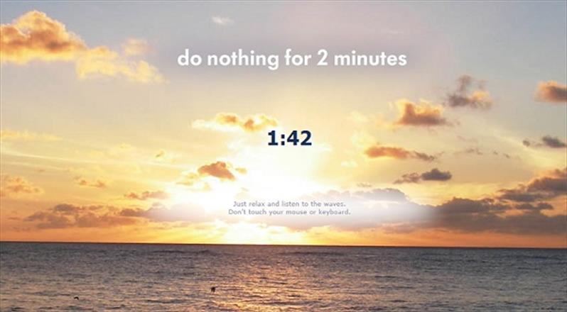 Những website giúp bạn thư giãn chỉ trong 2 phút